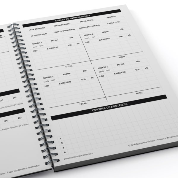 Cuaderno Táctico Planificación Fútbol Sala - 3