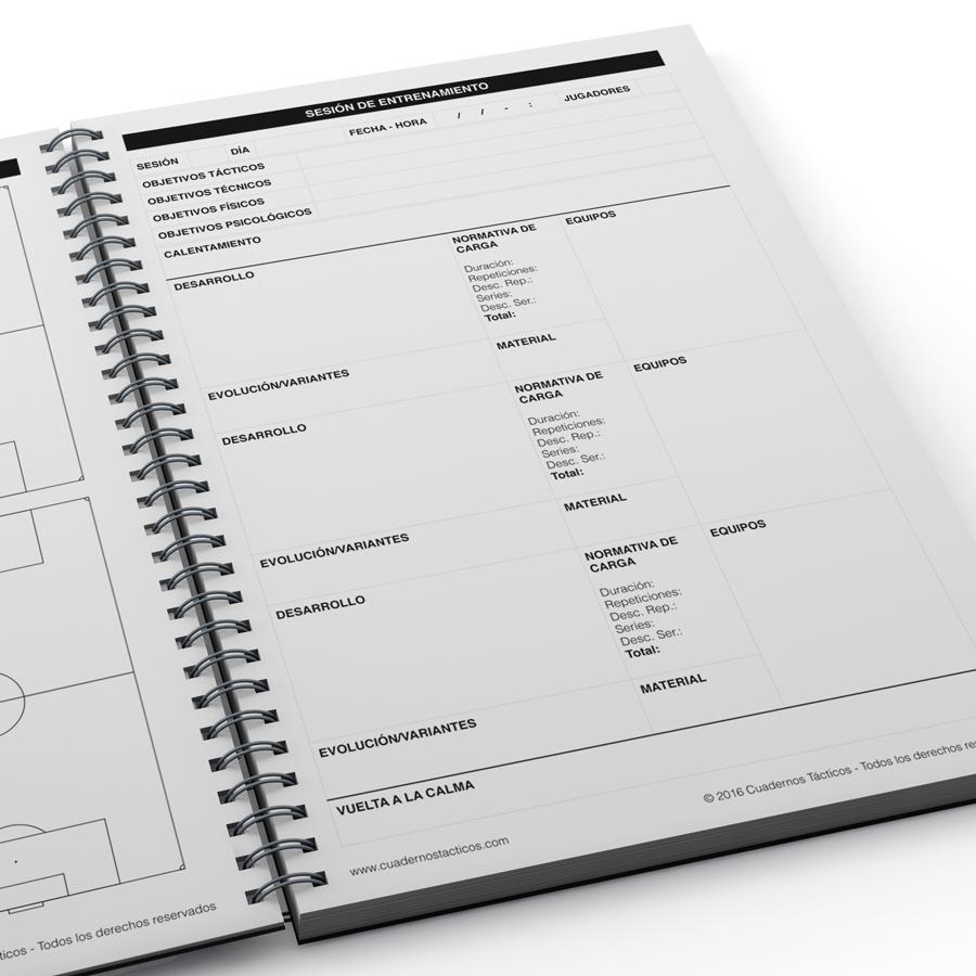 Cuaderno Táctico Sesiones de Entrenamiento Fútbol 11 - 4
